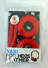 High Quality Red Protein Leather Pads for Sennheiser HD25-1 by YAXI HD25 mk II
