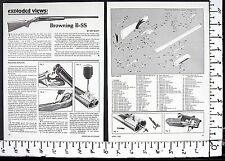 1982 BROWNING B-SS double barrel shotgun EXPLODED VIEWS Magazine Article 4726a
