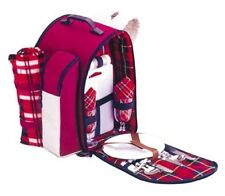 Picnic Pack Bag 2 Person 18 pieces includes Rug Insulated Cooler Beach Camp Hike