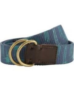 "Brand New JOHN LEWIS Tropical Canvas Belt, Blue Size M 40""                   B55"