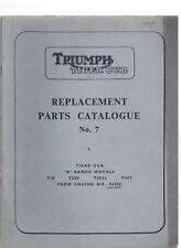 1959 TRIUMPH TIGER CUB Parts Catalog No 7 A Range Models from Engine 56350