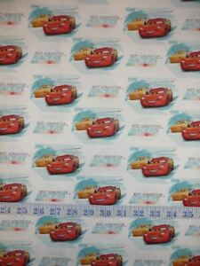 Disney Cars Friend Racers Next Generation Cotton Quilting Fabric 1/2 YARD