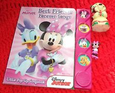 Disney minnie Best Friends Forever song book and candle and small mini figurine