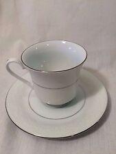 CROWN MING Fine China,  Royal Palm Tea Cup and Saucer, Jian Shiang