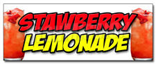 Strawberry Lemonade Decal Sticker Ice Cold Refreshing Homemade Drink Cool
