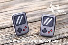 Gamer Gameboy Stud Earrings - Handmade - Plastic - Video Game Games Pins Cartoon
