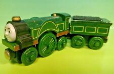 Thomas & Friends Wooden Railway Train Lot Emily + Tender  Rare Authentic