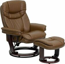 Recliner Chair With Ottoman For Living Room Brown Glider Furniture Swivel Seat