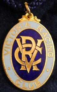 1964 ~ 65 VICTORIA RACING CLUB MEMBERS FOB / BADGE - STOKES - PERFECT