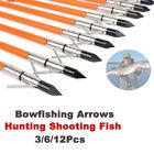 Archery Fishing Fiberglass Arrows Bowfishing Arrows Safety Slide Outdoor Hunting