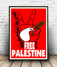 Free Palestine , political advertising poster reproduction.