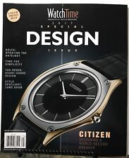 Watch Time Design Special Issue Rolex Tag Heuer Citizen 2017 FREE SHIPPING JB