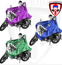 Roadriders' Motorcycle Dual Blue Raincoat