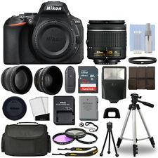 Nikon D5600 Digital Slr Camera Black + 3 Lens: 18-55mm Vr Lens + 32Gb Bundle