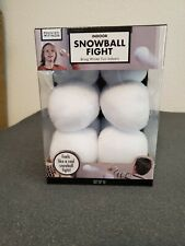 Indoor Snowball Fight Game 10pcs Soft Plush Realistic Snow Balls