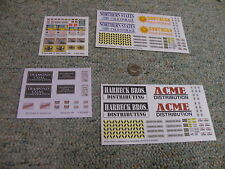 Walthers decals HO Billboards Signs card Acme Northern  Diammond x4 Lot2 E88