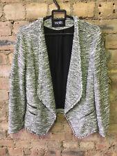 WALLIS Woman's Cardigan Jacket: S/white & grey/BNWOT