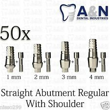 50 Straight Abutment With Shoulder for Regular platform Dental Implant Lab HQ