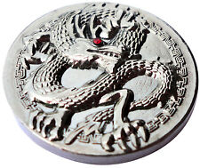 Dragon Golf Ball Marker w/Pewter Finish and Red Crystal Eye - Package of 2