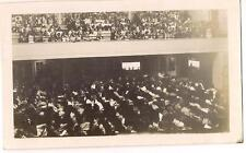Packed Crowd People In Auditorium Theater? At Rapt Attention Somber 1940s Photo