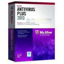 McAfee Antivirus Plus 2013 Up to 3 PCs 1 Year Protection (New & Sealed)
