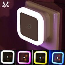 1-3Pcs Plug-in LED Sensor Night Light Lamp Bright White for Hallway Bath Kitchen
