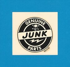 "VINTAGE ORIGINAL 1964 ED ROTH ""GENUINE JUNK PARTS"" SKULL & BONES WATER DECAL ART"