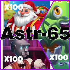 Coin Master :-) 300 Rare Cards- Lettuce- Santa- Lenny- Fast Delivery