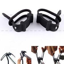 2Pcs Bike Bicycle Cycling Silicone Elastic Strap Bandage light lamp Mount Holder