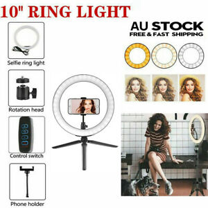 """6"""" 10"""" Dimmable LED Ring Light Tripod Stand Lighting Phone Selfie Make Up Live"""