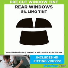 SUBARU IMPREZA / IMPREZA WRX 4-DOOR 2001-2007 5% LIMO REAR PRE CUT WINDOW TINT