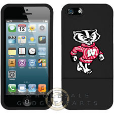 Apple iPhone 5S/SE Licensed Slider Case NCAA Wisconsin Badgers Mascot Case