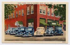 1939 MOUNT AIRY NC Moody FUNERAL HOME old HEARSE n ELKIN NC WINSTON SALEM postca