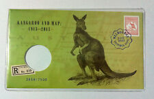 2013 KANGAROO & MAP MELBOURNE EXPO STAMP PNC DAY 3 NUMBERED 3858 WITHOUT COIN