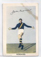 1951 Kornies Footballers In Action (No. 36) J. W. MORRIS Richmond