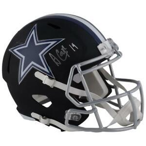 AMARI COOPER Autographed Cowboys Speed Black Matte Full Size Helmet FANATICS