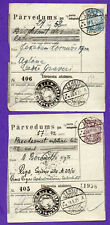 LATVIA LETTLAND LOT OF 4 MONEY ORDER USED 1930-32s 684