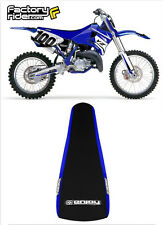 1993-1995 YAMAHA YZ 125 250 BLUE/BLACK FULL GRIPPER SEAT COVER EnjoyMFG