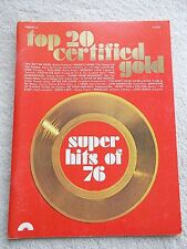 Top 20 Certified Gold Super Hits of 1976 Arr Flute Unmarked