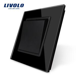 Livolo Kippschalter Kristall Glas Lichtschalter Schalter in Schwarz ,CE