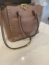 Authentic Valentino Large Rockstud Tote Shoulder Handbag
