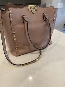 Authentic Valentino Large Rockstud Tote Shoulder Handbag