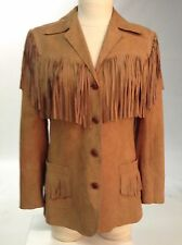 Western Wear Cowgirl Jacket Suede with Fringe- Vintage-Size M