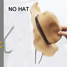 2x Double Hat Coat Clothes Hanger Hook Rack Door Wall Bath Satin Gold Aluminium