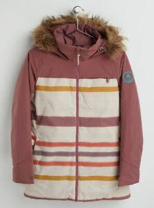 Brand New Womens 2021 Burton Lelah Snow Jacket Rose Brown / Creme Brulee Woven