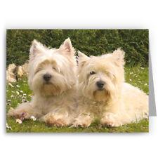 Westies Greeting Card-Perro