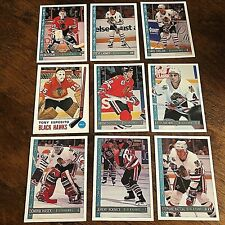 1992-93 O-Pee-Chee  CHICAGO BLACKHAWKS  18  Card team set