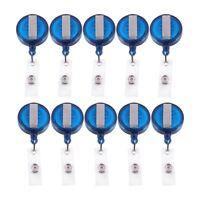 10 Retractable Reel Recoil ID Badge Lanyard Name Tag Key Card Holder Belt C K2W0