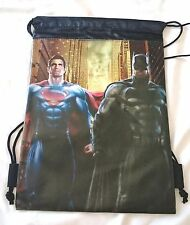 Black Batman V Superman Drawstring Backpack Dawn Of Justice TM DC Comic Licensed