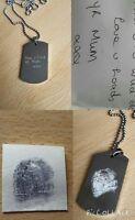 Engraved Fingerprint Jewellery Necklace - Ladies & Men's Shape available
